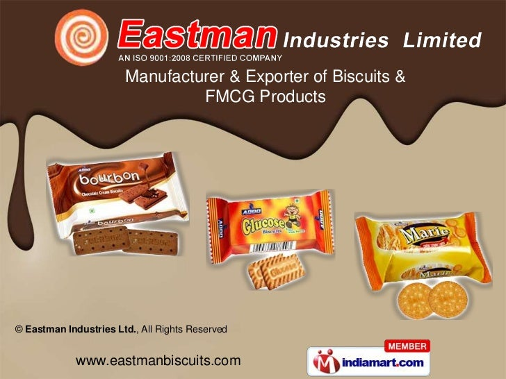 Manufacturer & Exporter of Biscuits &                                FMCG Products© Eastman Industries Ltd., All Rights Re...