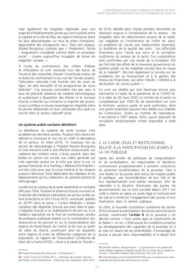 COMPORTEMENT DES JEUNES TUNISIENS EN PÉRIODE DE CRISE: ENTRE SOLIDARITÉ ET RÉSILIENCE FACE À LA PANDÉMIE DE COVID-19 14 ma...