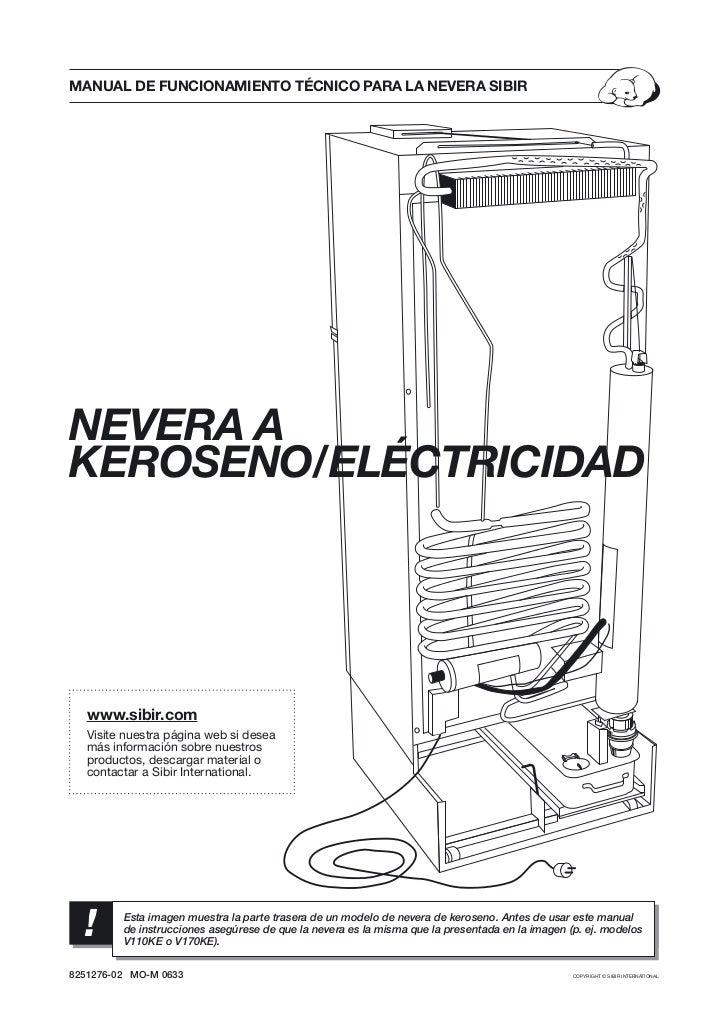 manual de refrigerador queroseno