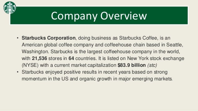 overview of starbucks coffee company Starbucks coffee company (uk) limited - free company information from companies house including registered office address, filing history, accounts, annual return.