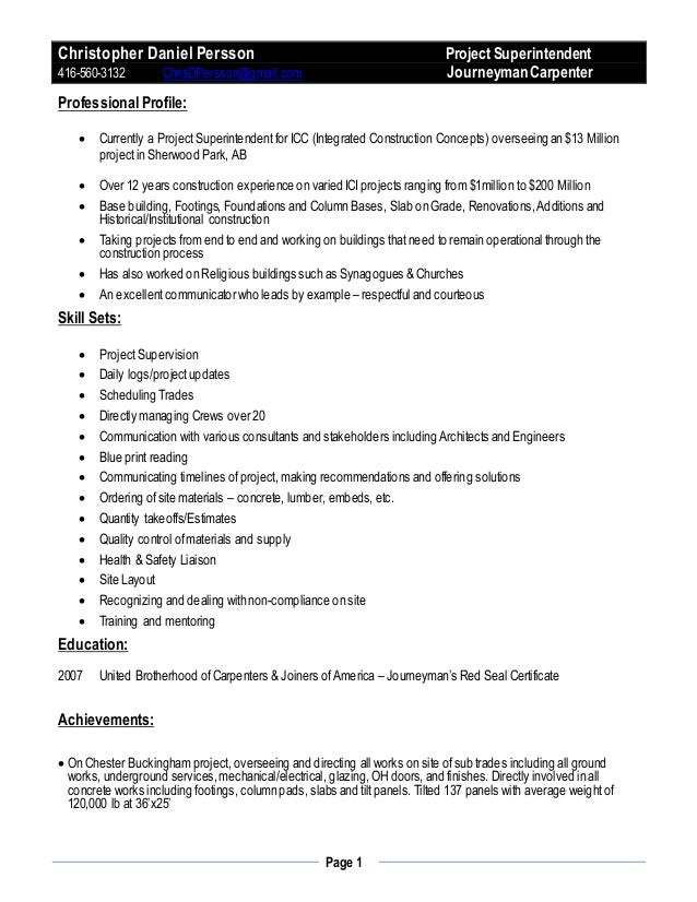christopher persson cv