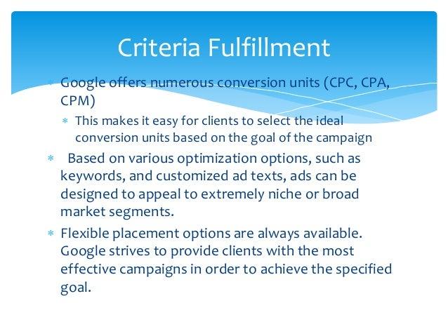 Google Adwords Proposal
