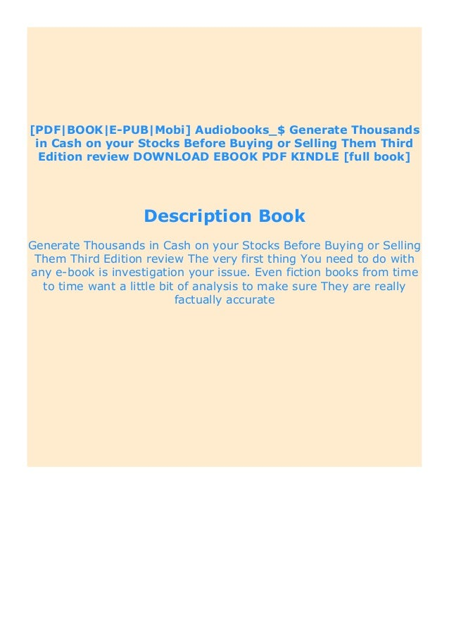 How to make money in stocks third edition pdf free. download full