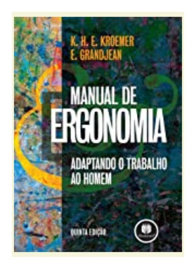 [PDF BOOK E-PUB Mobi] kindle_$ Manual de Ergonomia Adaptando o Trabalho ao Homem (Portuguese Edition) review DOWNLOAD EBOO...