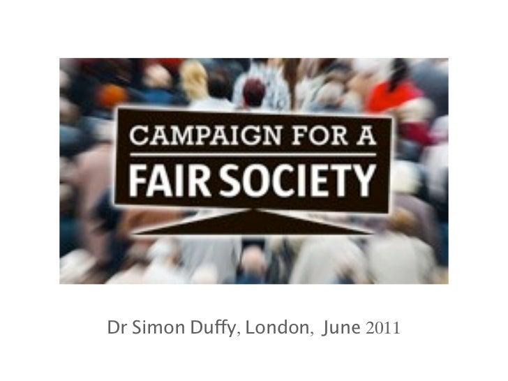 Dr Simon Duffy, London, June 2011