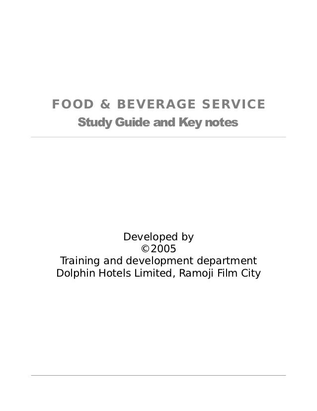 17721021 manual for food beverage service rh slideshare net food and beverage manufacturers food and beverage manager skills
