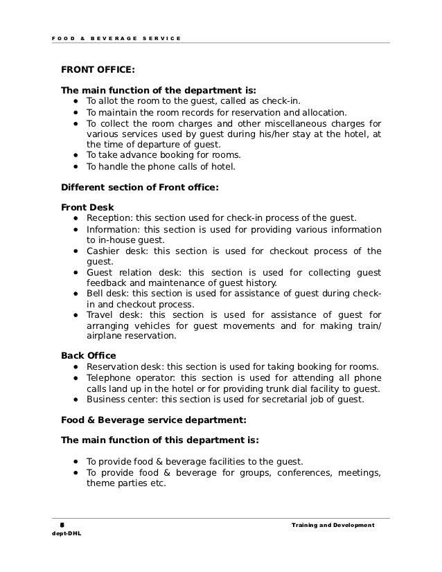17721021 manual for food beverage service rh slideshare net food and beverage manager skills food and beverage manager