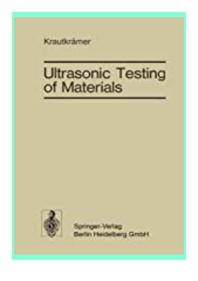 [PDF|BOOK|E-PUB|Mobi] ((Read_EPUB))^^@@ Ultrasonic Testing of Materials review DOWNLOAD EBOOK PDF KINDLE [full book] Descr...