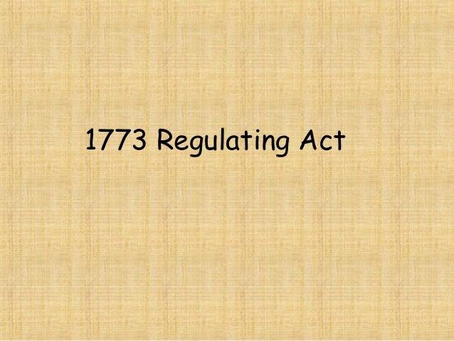 1773 Regulating Act