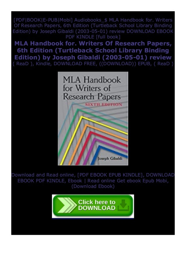 Mla handbook for writers of research papers download free most popular resume formats 2012