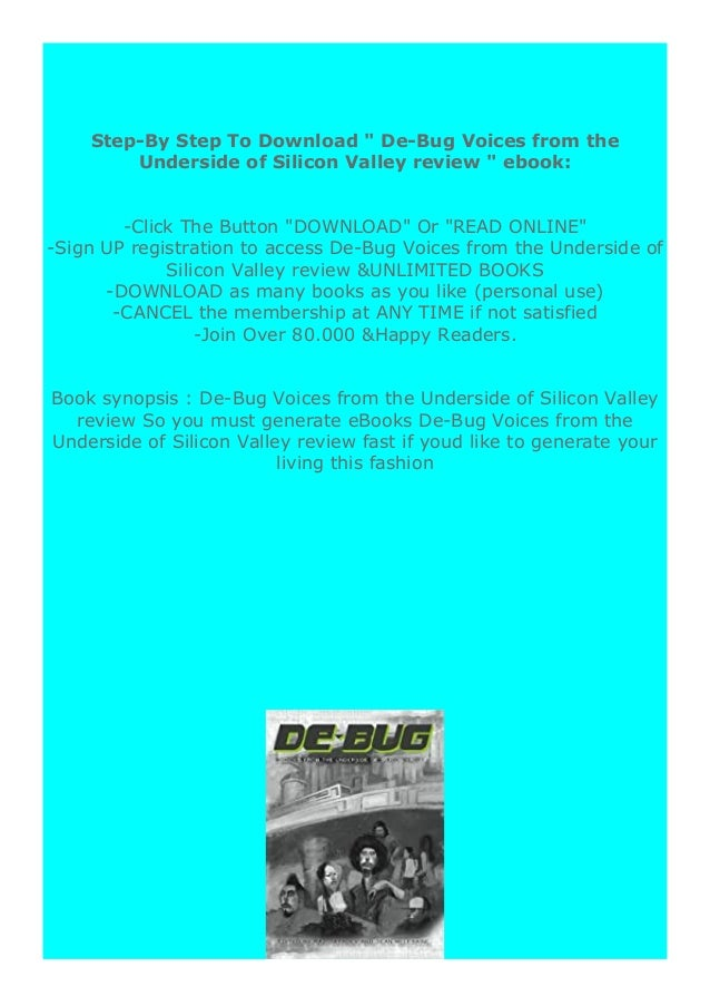 [PDF BOOK E-PUB Mobi] ((Download))^^@@ De-Bug Voices from the Underside of Silicon Valley review DOWNLOAD EBOOK PDF KINDLE...