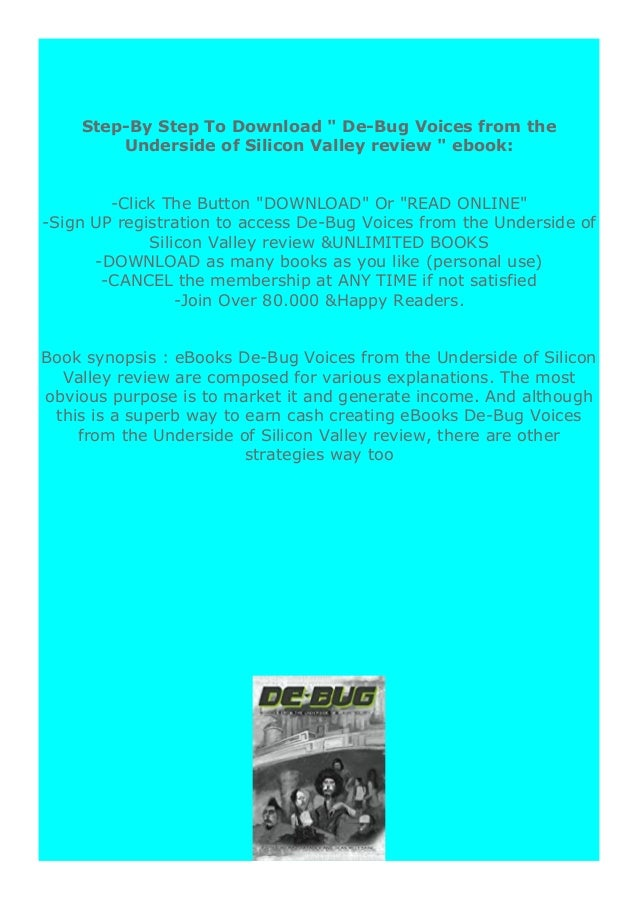 [PDF BOOK E-PUB Mobi] P.D.F_EPUB De-Bug Voices from the Underside of Silicon Valley review DOWNLOAD EBOOK PDF KINDLE [full...