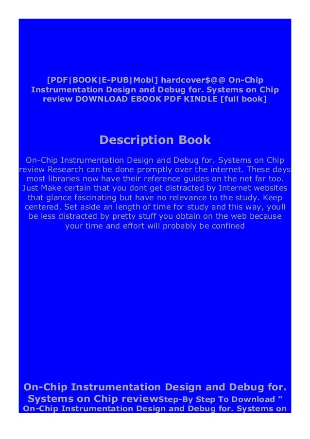 """Chip review """" ebook: -Click The Button """"DOWNLOAD"""" Or """"READ ONLINE"""" -Sign UP registration to access On-Chip Instrumentation..."""