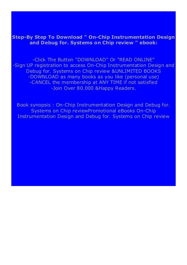 [PDF BOOK E-PUB Mobi] ((Read_[P.D.F]))@@ On-Chip Instrumentation Design and Debug for. Systems on Chip review DOWNLOAD EBO...