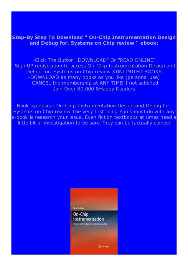 [PDF BOOK E-PUB Mobi] P.D.F_book On-Chip Instrumentation Design and Debug for. Systems on Chip review DOWNLOAD EBOOK PDF K...