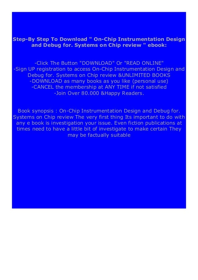 free pdf online_ On-Chip Instrumentation  Design and Debug for. Systems on Chip review 'Full_Pages'