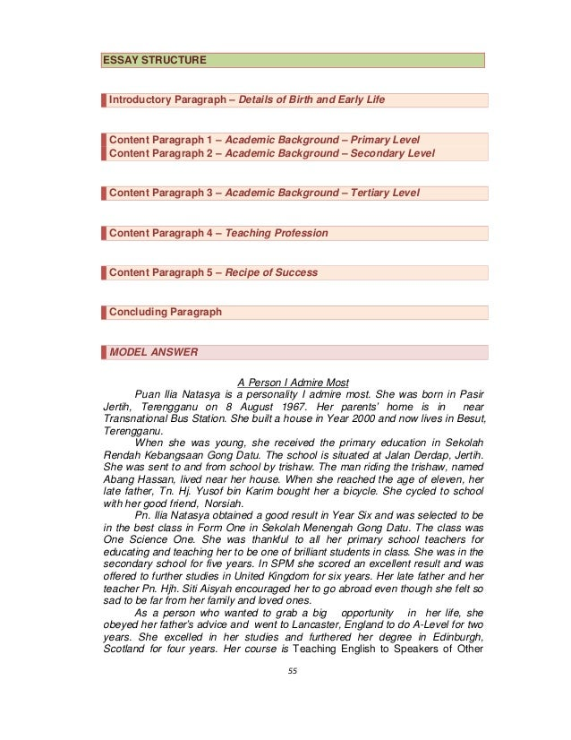 Guidelines On Writing English Essays SPM