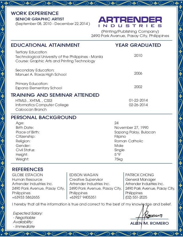 allen romero resume and portfolio