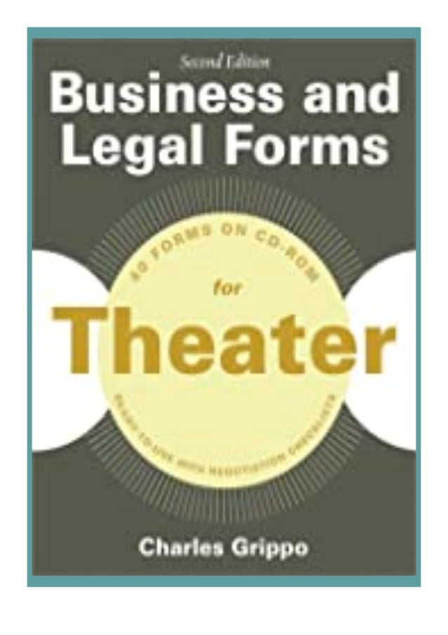[PDF|BOOK|E-PUB|Mobi] ((Download))^^@@ Business and Legal Forms for. Theater, Second Edition (Business and Legal Forms Ser...