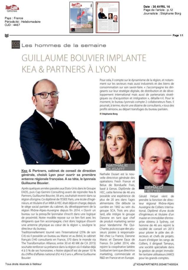 Date : 30 AVRIL 16 Pays : France Périodicité : Hebdomadaire OJD : 4467 Page de l'article : p.12 Journaliste : Stéphanie Bo...