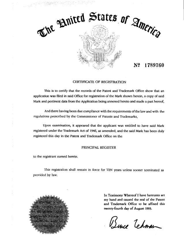 Wake Up, America! Trademark Aug 24 1993