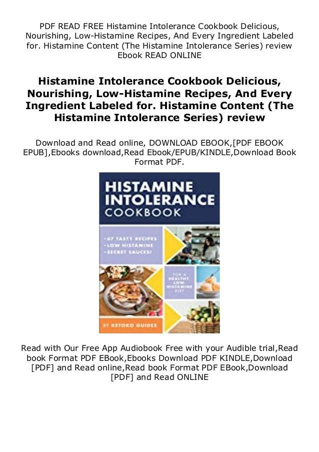 Top Book Histamine Intolerance Cookbook Delicious Nourishing Low H