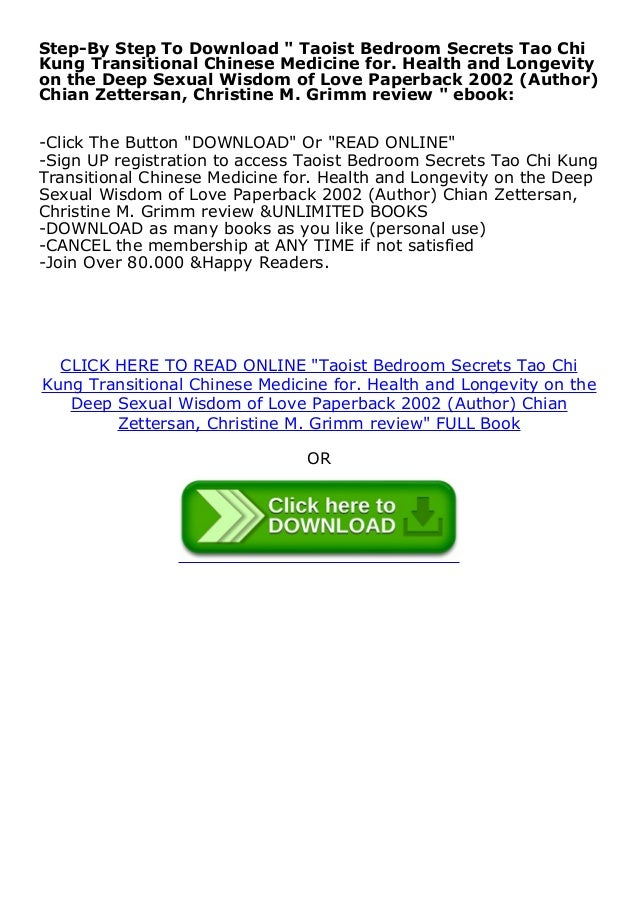 Online Free Taoist Bedroom Secrets Tao Chi Kung Transitional Chinese
