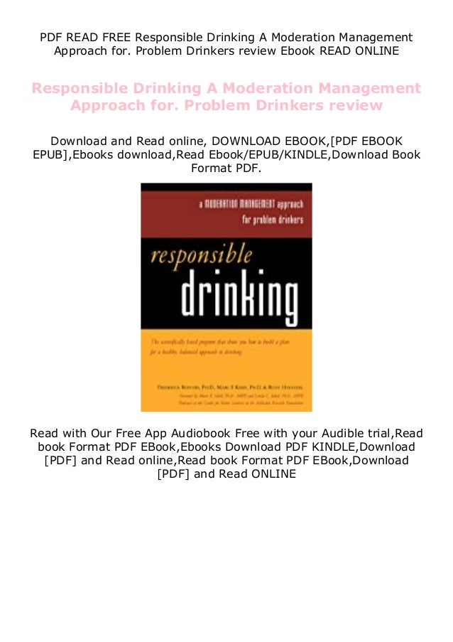 PDF READ FREE Responsible Drinking A Moderation Management Approach for. Problem Drinkers review Ebook READ ONLINE Respons...
