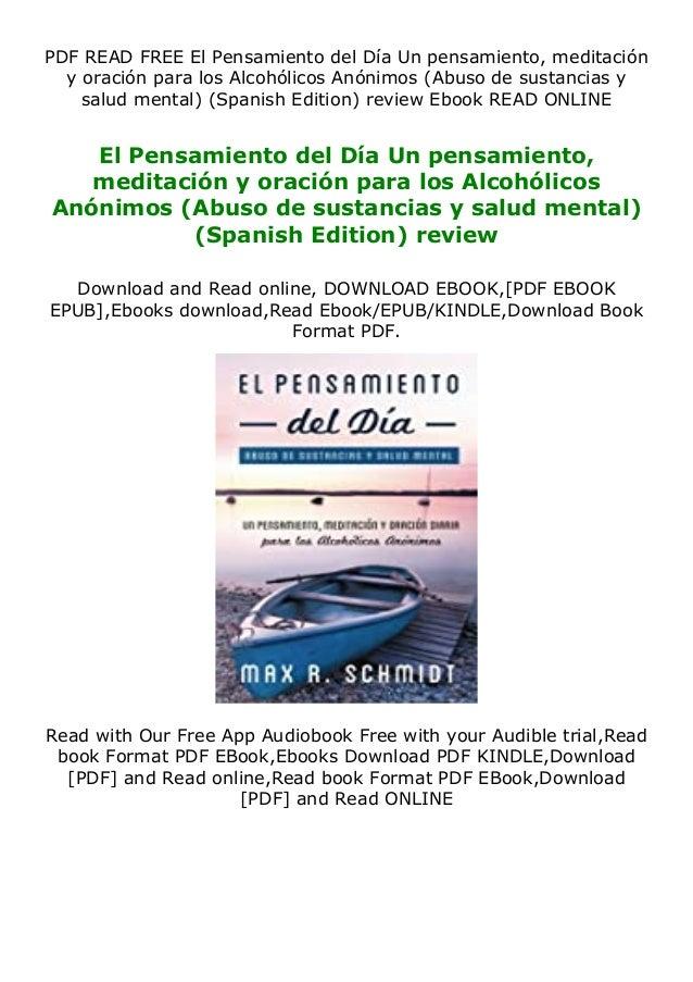 PDF READ FREE El Pensamiento del Día Un pensamiento, meditación y oración para los Alcohólicos Anónimos (Abuso de sustanci...