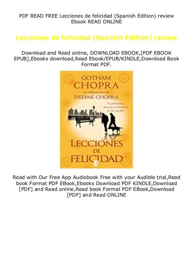 PDF READ FREE Lecciones de felicidad (Spanish Edition) review Ebook READ ONLINE Lecciones de felicidad (Spanish Edition) r...
