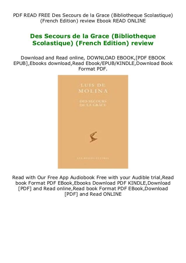 PDF READ FREE Des Secours de la Grace (Bibliotheque Scolastique) (French Edition) review Ebook READ ONLINE Des Secours de ...