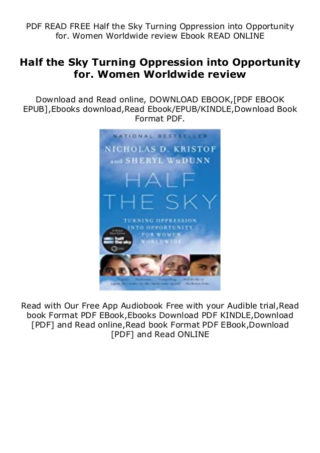 Description PLR eBooks Half the Sky Turning Oppression into Opportunity for. Women Worldwide review Half the Sky Turning O...