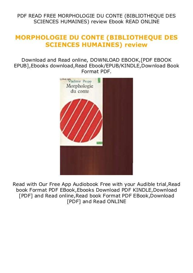 PDF READ FREE MORPHOLOGIE DU CONTE (BIBLIOTHEQUE DES SCIENCES HUMAINES) review Ebook READ ONLINE MORPHOLOGIE DU CONTE (BIB...