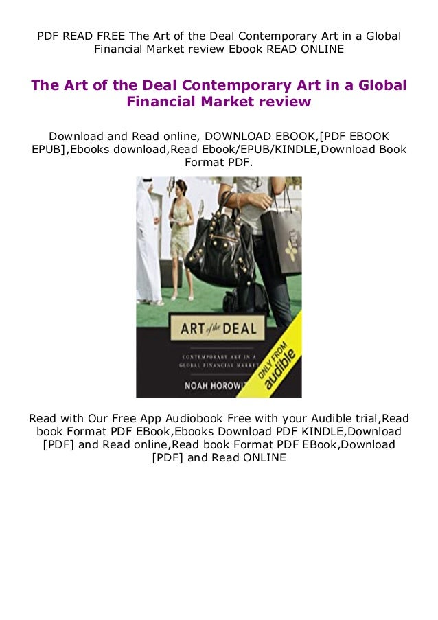 PDF READ FREE The Art of the Deal Contemporary Art in a Global Financial Market review Ebook READ ONLINE The Art of the De...