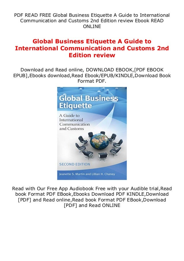 PDF READ FREE Global Business Etiquette A Guide to International Communication and Customs 2nd Edition review Ebook READ O...