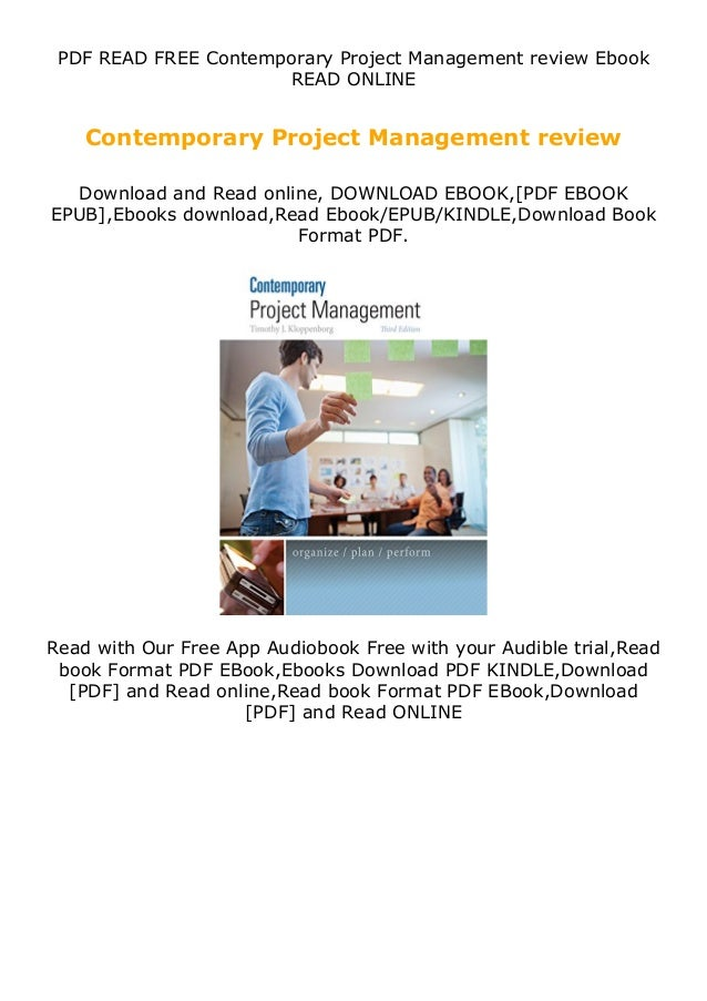 PDF READ FREE Contemporary Project Management review Ebook READ ONLINE Contemporary Project Management review Download and...