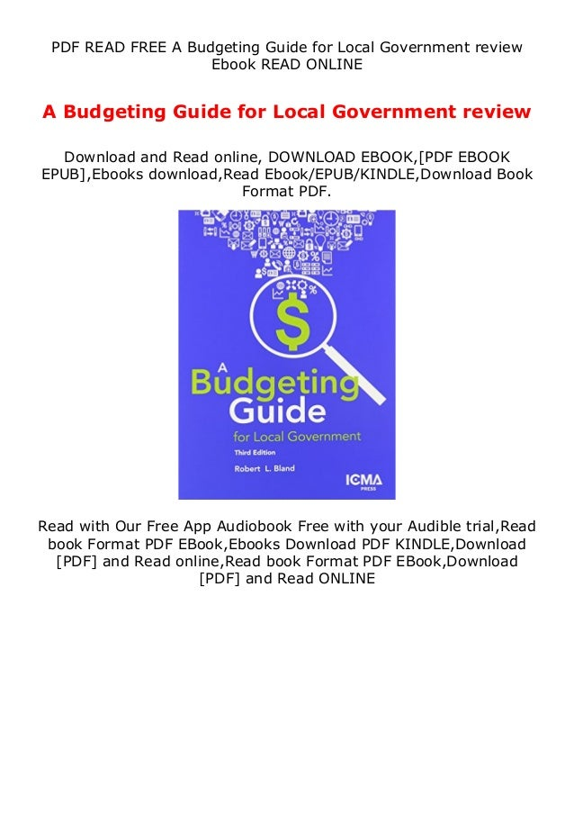 PDF READ FREE A Budgeting Guide for Local Government review Ebook READ ONLINE A Budgeting Guide for Local Government revie...