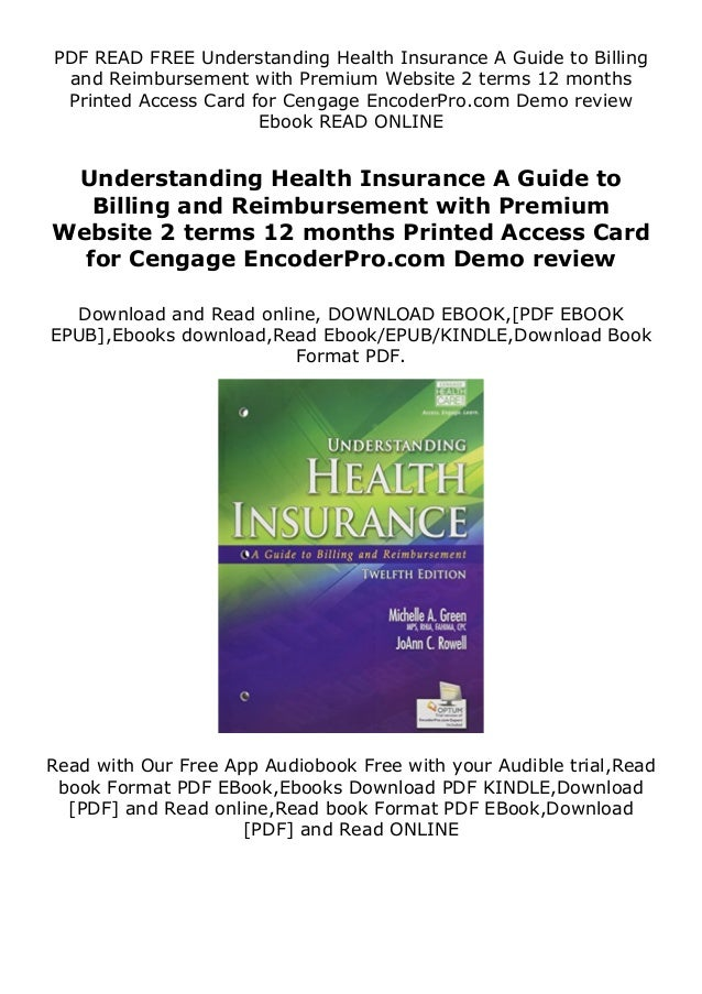 PDF READ FREE Understanding Health Insurance A Guide to Billing and Reimbursement with Premium Website 2 terms 12 months P...