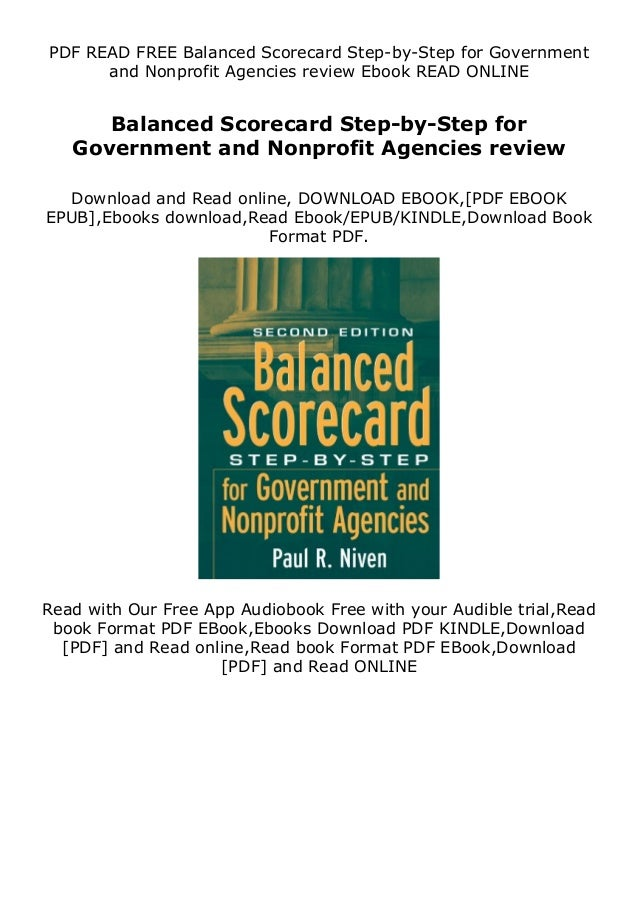 PDF READ FREE Balanced Scorecard Step-by-Step for Government and Nonprofit Agencies review Ebook READ ONLINE Balanced Scor...