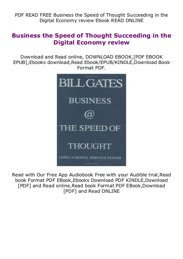 PDF READ FREE Business the Speed of Thought Succeeding in the Digital Economy review Ebook READ ONLINE Business the Speed ...