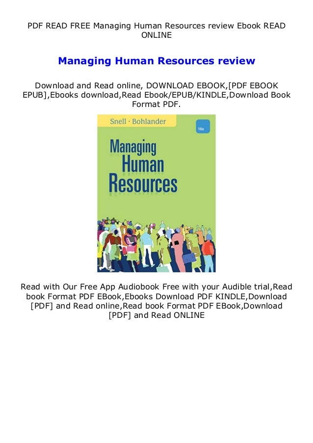 PDF READ FREE Managing Human Resources review Ebook READ ONLINE Managing Human Resources review Download and Read online, ...
