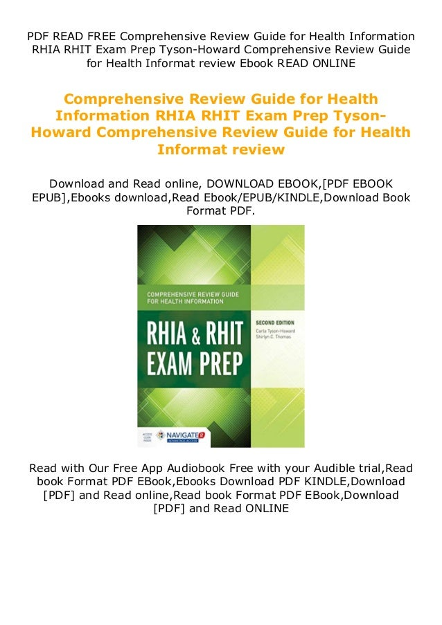 PDF READ FREE Comprehensive Review Guide for Health Information RHIA RHIT Exam Prep Tyson-Howard Comprehensive Review Guid...
