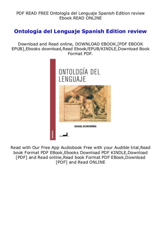 PDF READ FREE Ontología del Lenguaje Spanish Edition review Ebook READ ONLINE Ontología del Lenguaje Spanish Edition revie...