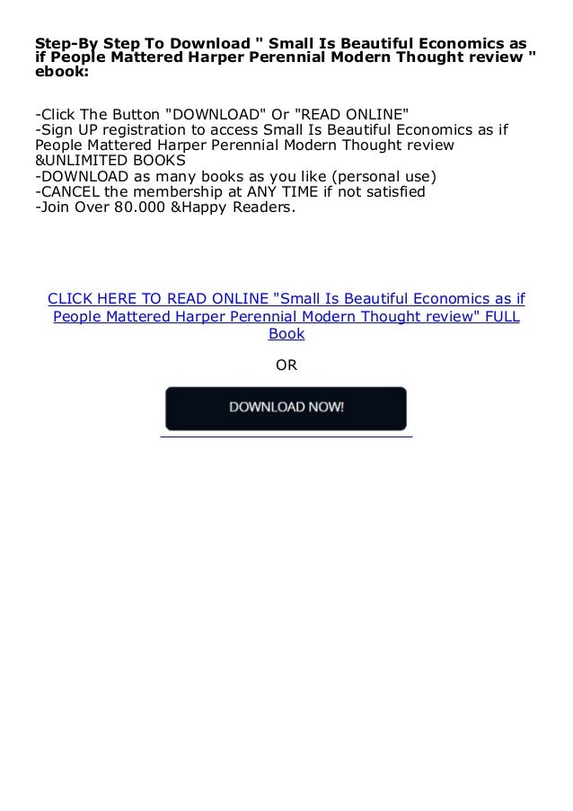 [download]_p.d.f Small Is Beautiful Economics as if People Mattered Harper Perennial Modern Thought review *E-books_online*