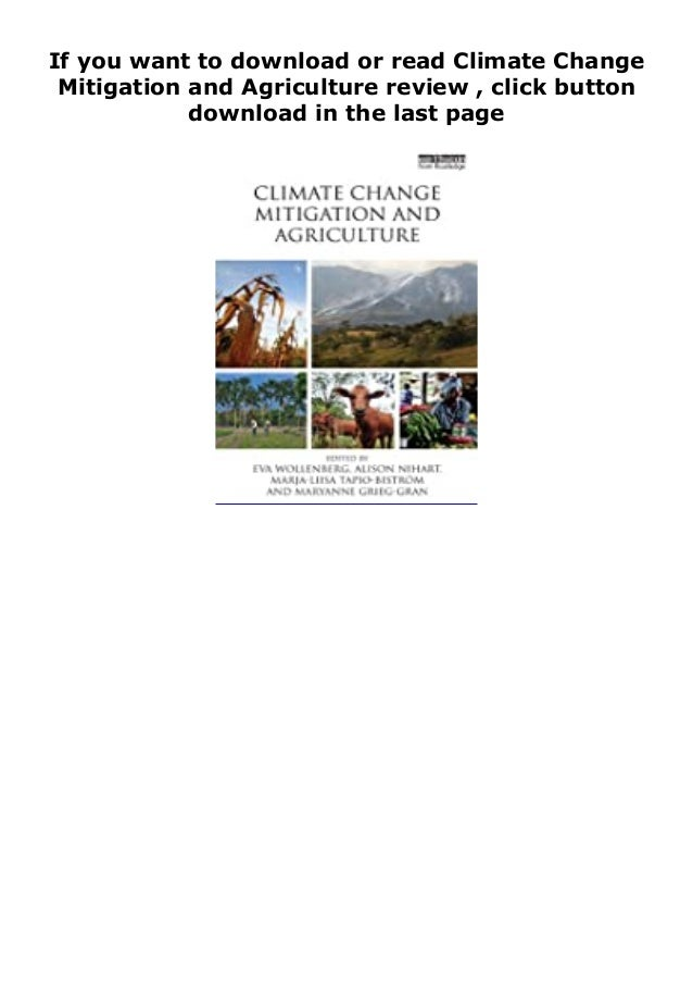 """Step-By Step To Download """" Climate Change Mitigation and Agriculture review """" ebook: -Click The Button """"DOWNLOAD"""" Or """"READ..."""