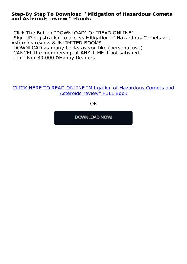 pdf download_ Mitigation of Hazardous Comets and Asteroids review *full_pages*