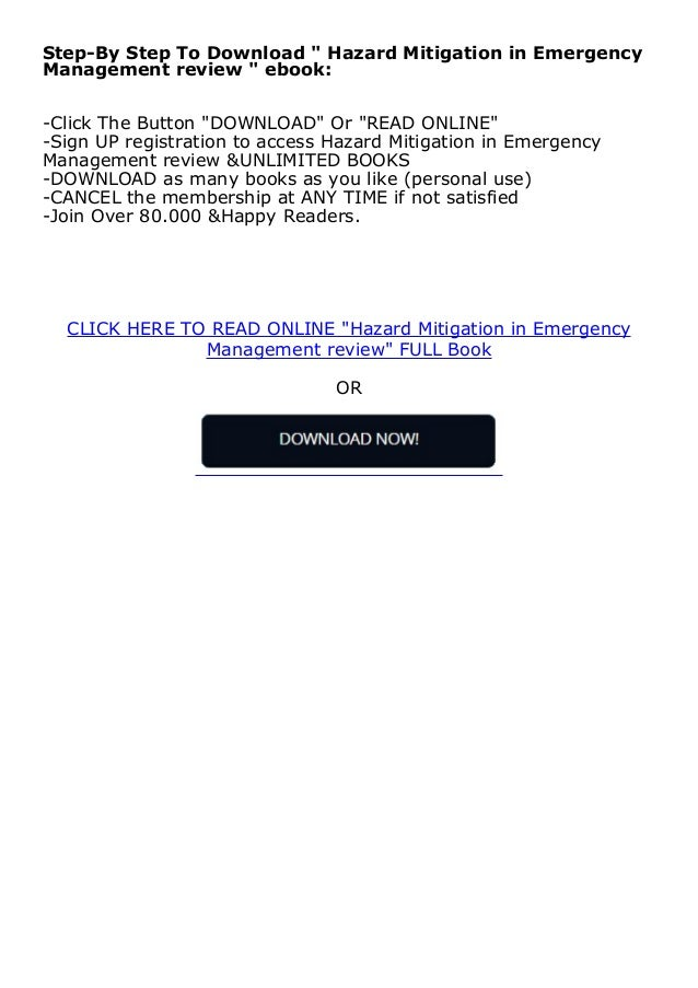 kindle_$ Hazard Mitigation in Emergency Management review ^^Full_Books^^