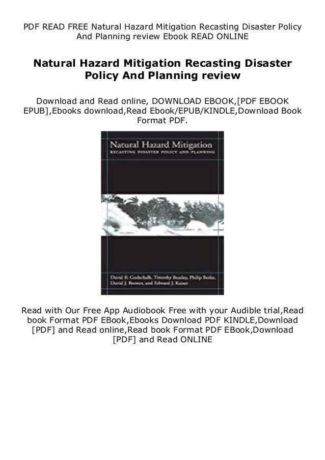 Description Natural Hazard Mitigation Recasting Disaster Policy And Planning review Some e book writers package their eBoo...