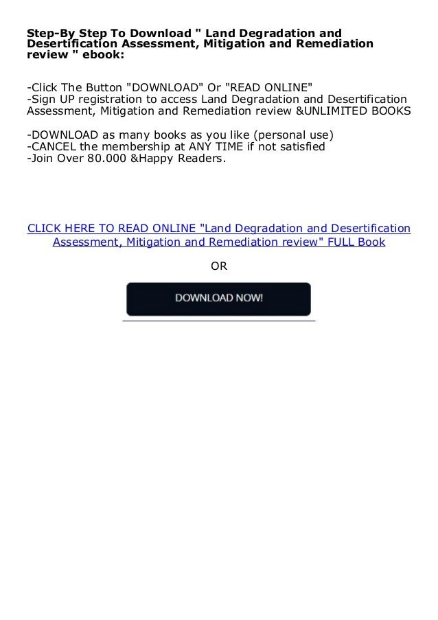 """Step-By Step To Download """" Land Degradation and Desertification Assessment, Mitigation and Remediation review """" ebook: -Cl..."""