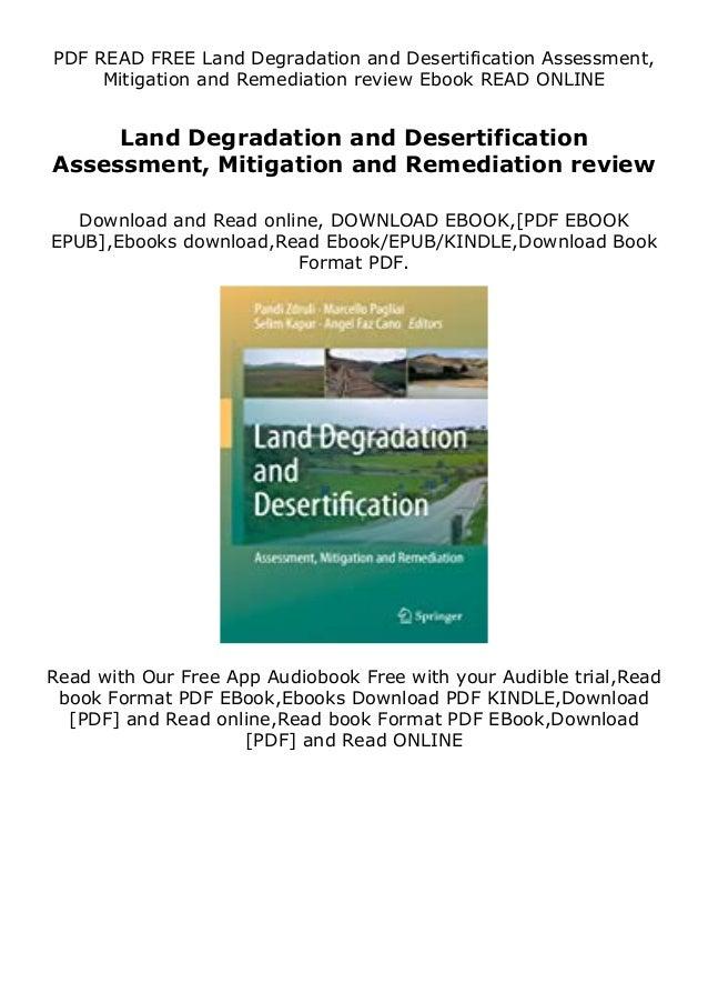 Description PLR eBooks Land Degradation and Desertification Assessment, Mitigation and Remediation review Land Degradation...
